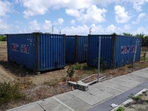 沖縄市へのコンテナ搬入